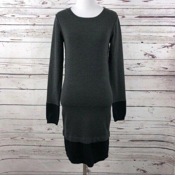LUMIERE Color-block Sweater Dress Sz Small